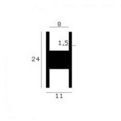 Aluminium H-profiel (model 3)