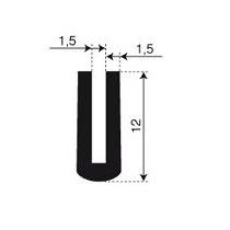 Rubber U-profiel (model 1)