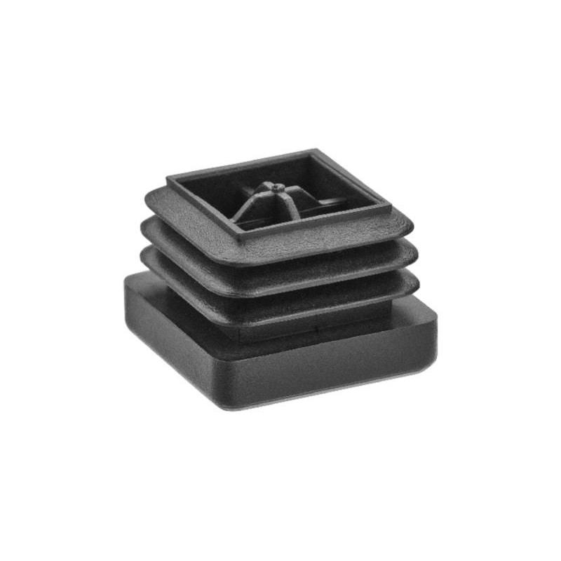 Kunststof insteekdop vierkant zwart