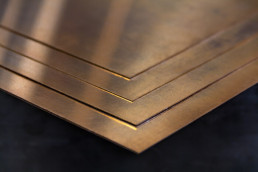Brons plaat