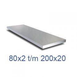 Aluminium platstaf strip groot
