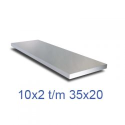 aluminium platstaf klein