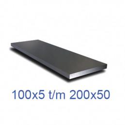 Staal platstaf 37K blank groot XL